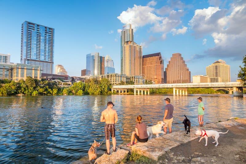 Vista di Austin, orizzonte del centro fotografie stock