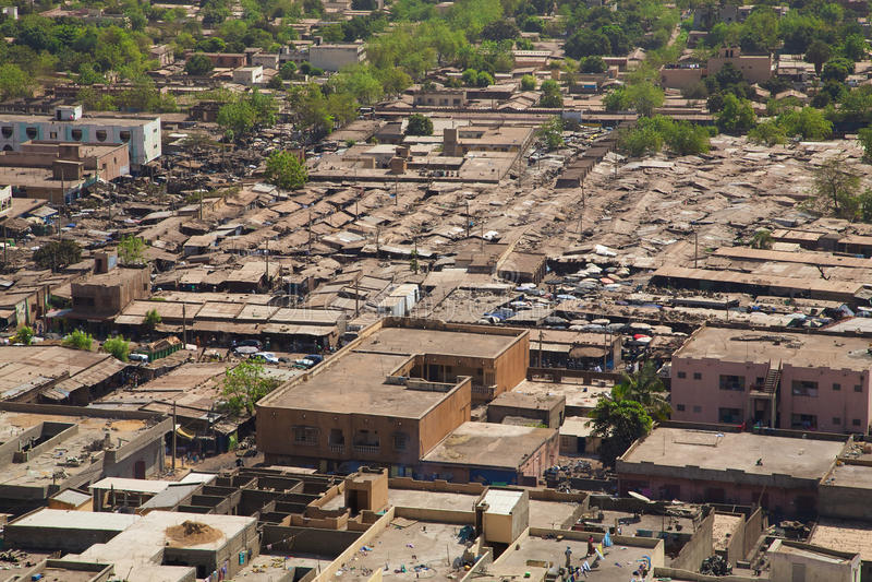 Vista di Bamako la città fotografia stock