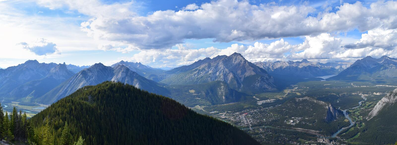 Vista di Banff, Alberta, Canada fotografia stock