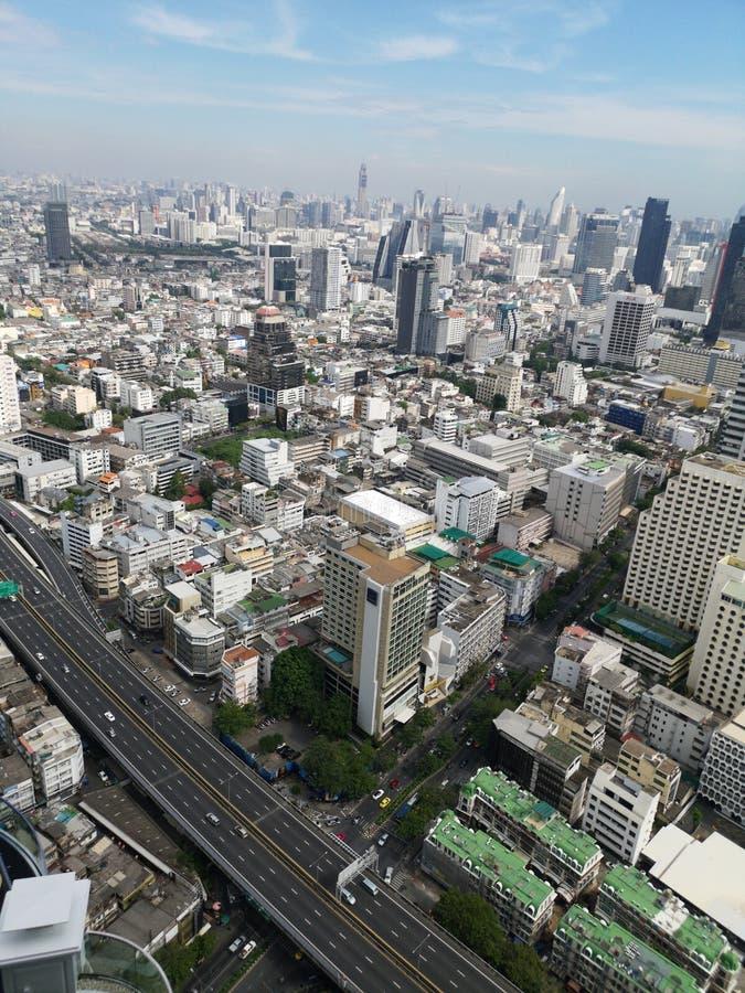 Vista di Bangkok dalla cima immagine stock
