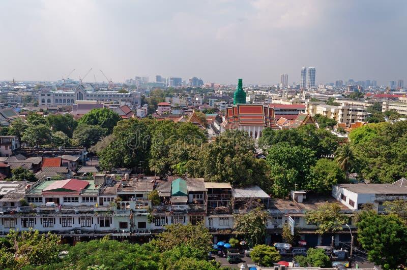 Vista di Bangkok dalla montagna dorata immagine stock