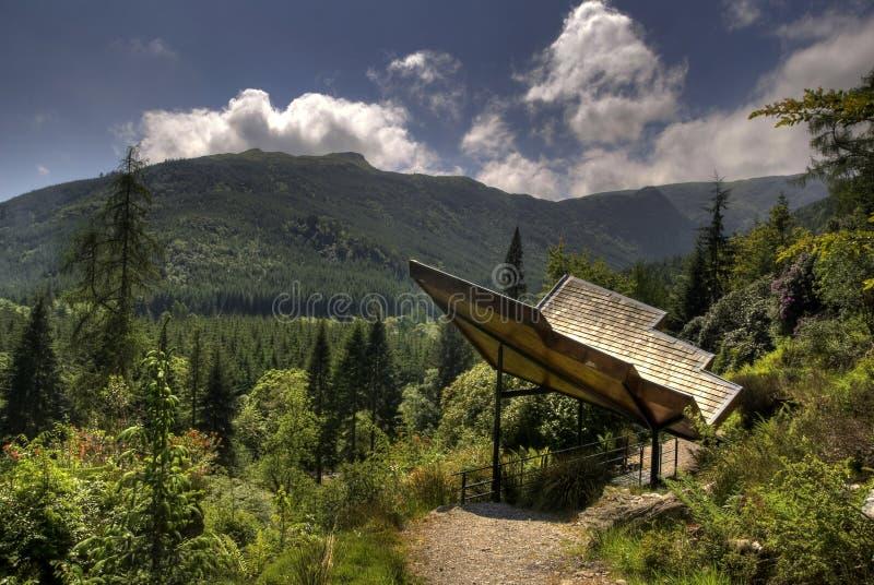Vista di Benmore Botanics immagini stock libere da diritti