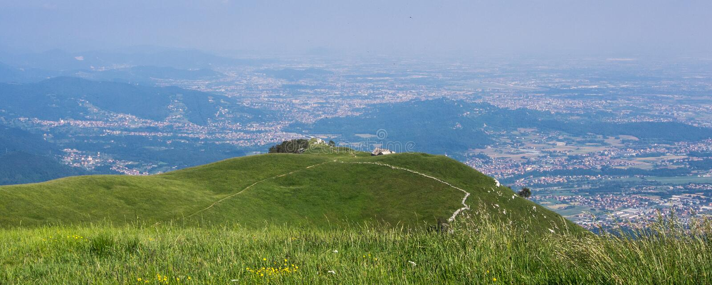 Vista di Bergamo fotografia stock