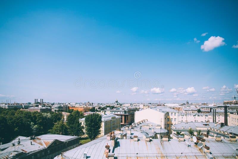 Vista di Birdseye del distretto centrale di San Pietroburgo immagine stock