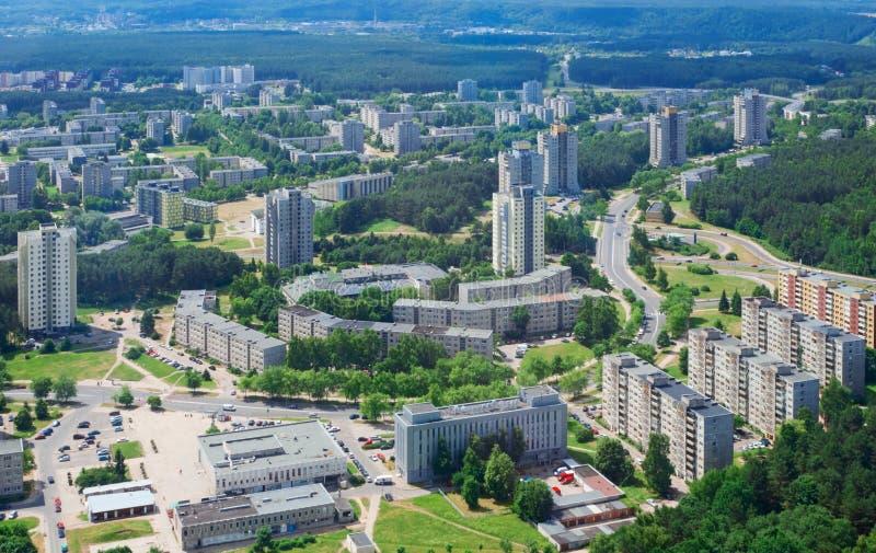Vista di Birdseye del uptown di Vilnius immagini stock libere da diritti