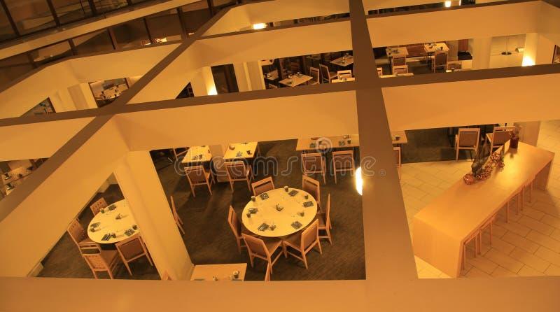 Vista di Birdseye della sala da pranzo fotografie stock libere da diritti