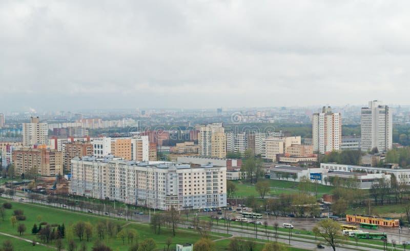 Vista di Birdseye di Minsk immagini stock