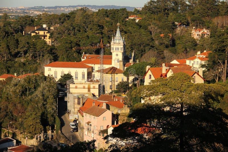 Vista di Birdseye di Sintra. Sintra. Il Portogallo fotografia stock