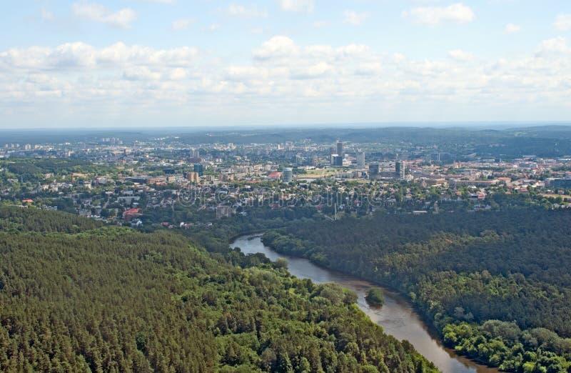 Vista di Birdseye di Vilnius fotografia stock