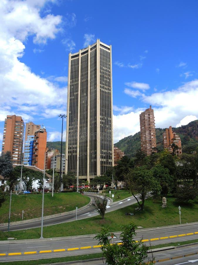 Vista di Bogota moderna, Colombia fotografie stock