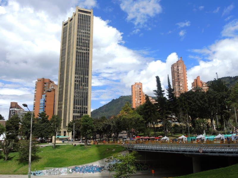 Vista di Bogota moderna, Colombia fotografia stock libera da diritti