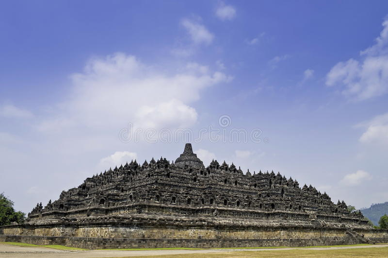 Vista di Borobudur fotografia stock