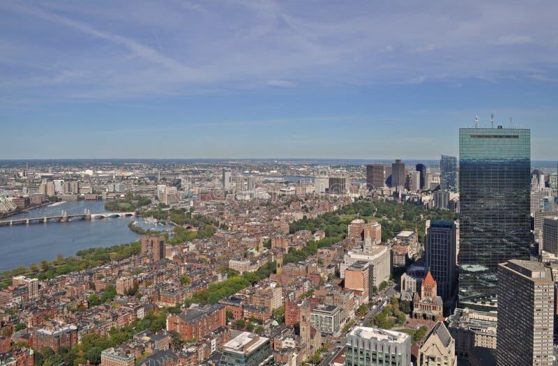 Vista di Boston dal centro prudenziale immagine stock libera da diritti