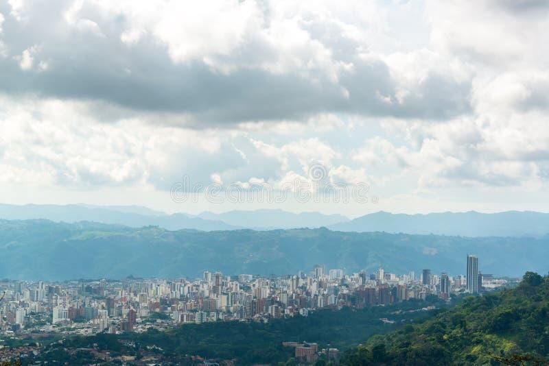 Vista di Bucaramanga, Colombia fotografia stock libera da diritti