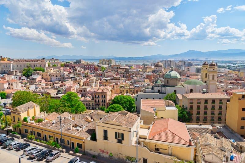 Vista di Cagliari, Sardegna, Italia fotografie stock libere da diritti