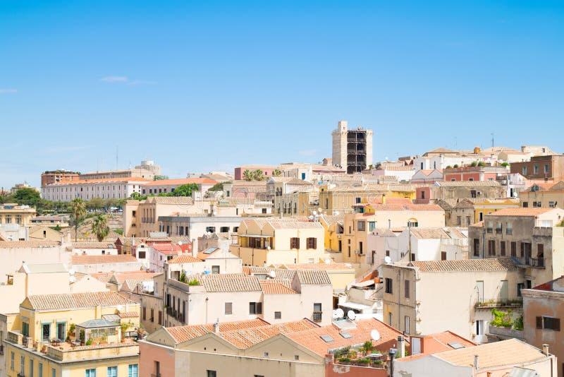 Vista di Cagliari, Sardegna, Italia fotografia stock libera da diritti