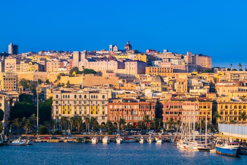 Vista di Cagliari, Sardegna, Italia fotografia stock