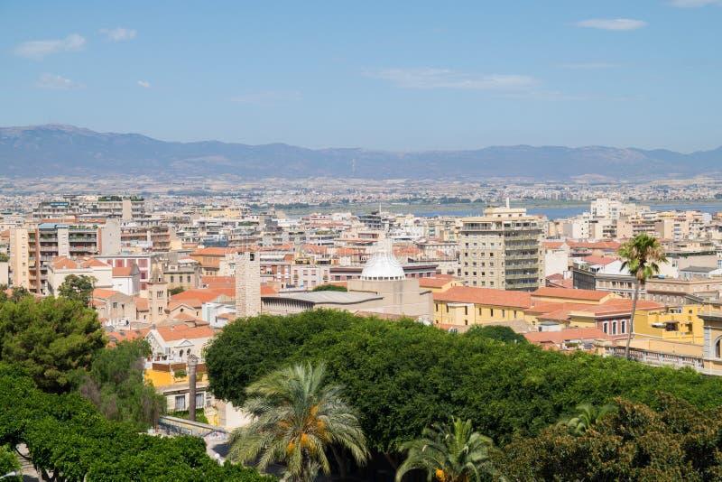 Vista di Cagliari, Sardegna, Italia immagini stock