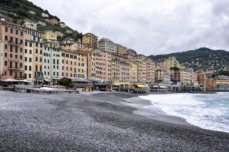 Vista di Camogli - Italia fotografia stock