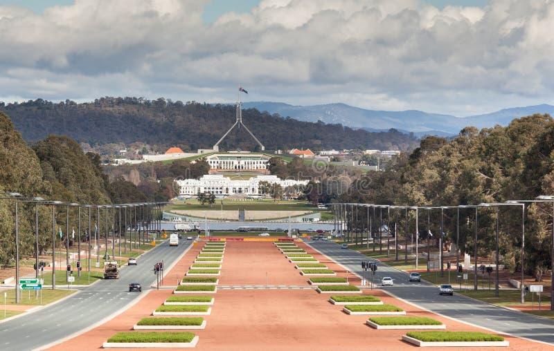 Vista di Canberra fotografie stock