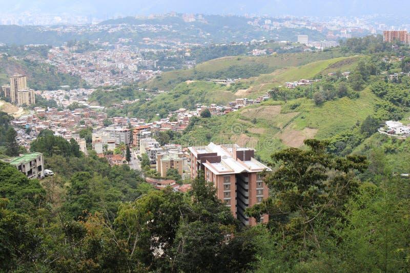 Vista di Caracas dal sud-est fotografia stock