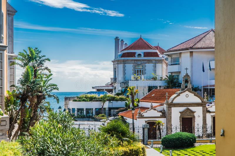 Vista di Cascais, Portogallo fotografia stock