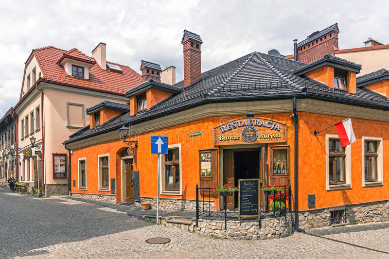 Vista di Città Vecchia in Bielsko-Biala fotografie stock