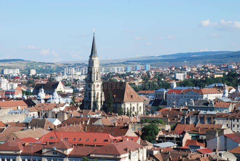 Vista di Cluj dalla parte superiore fotografia stock libera da diritti