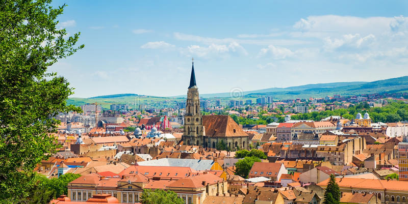 Vista di Cluj Napoca immagini stock libere da diritti