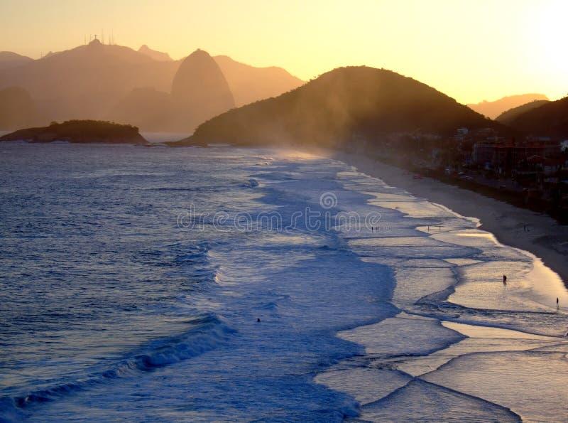 Vista di Corcovado da Niterói fotografia stock