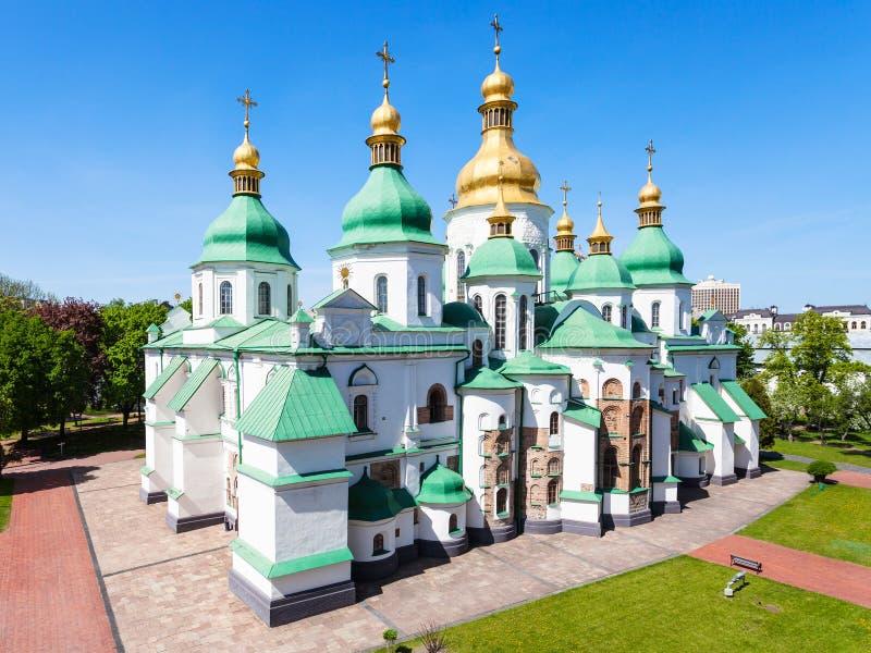 Vista di costruzione del san Sophia Cathedral a Kiev fotografia stock