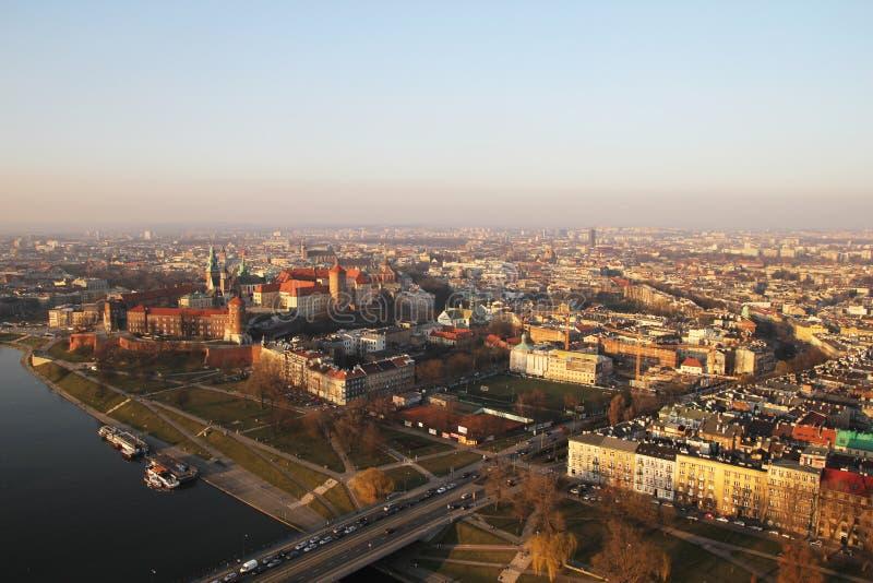 Download Vista Di Cracovia Dell'aria Immagine Stock - Immagine di storico, arte: 56887591