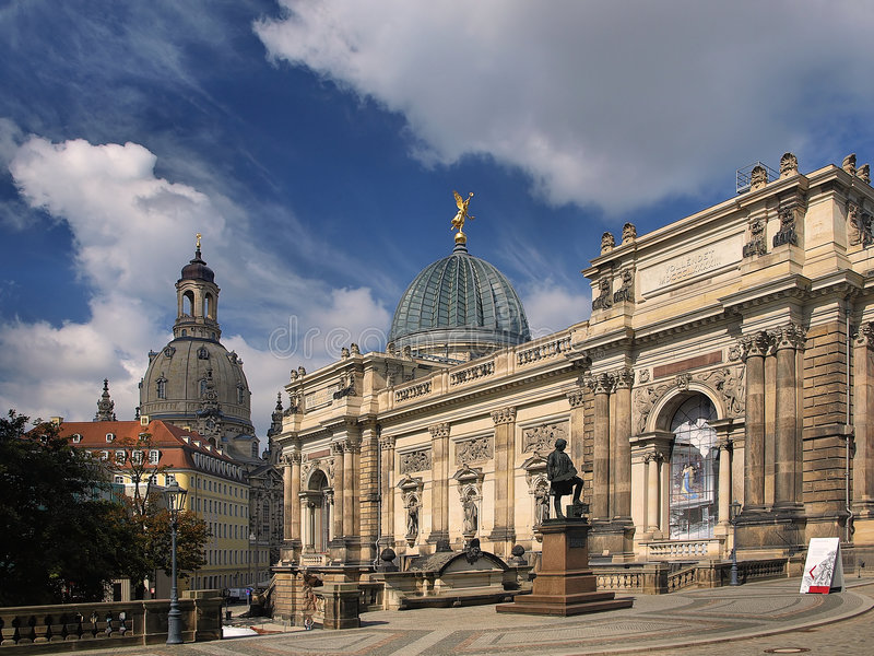 Vista di Dresda no.1 fotografie stock