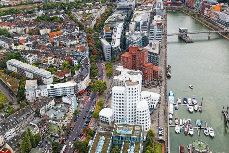Vista di Dusseldorf fotografia stock libera da diritti