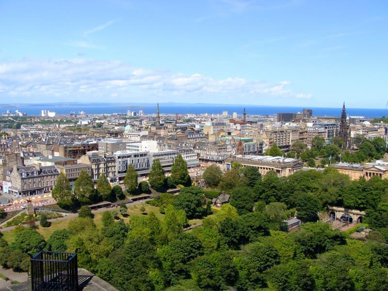 Vista di Edinburgh immagine stock