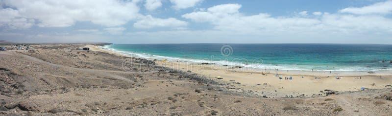 Vista di EL Cortillo di Fuertaventura fotografia stock libera da diritti