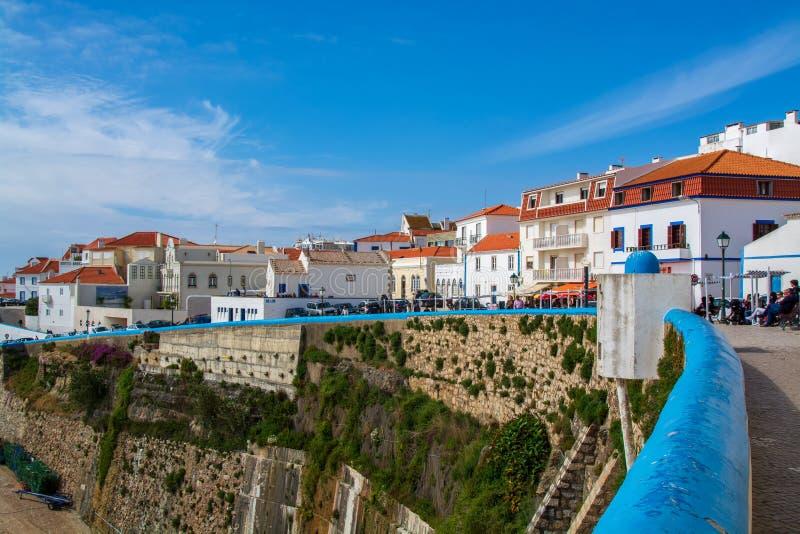 Vista di Ericeira nel Portogallo fotografia stock
