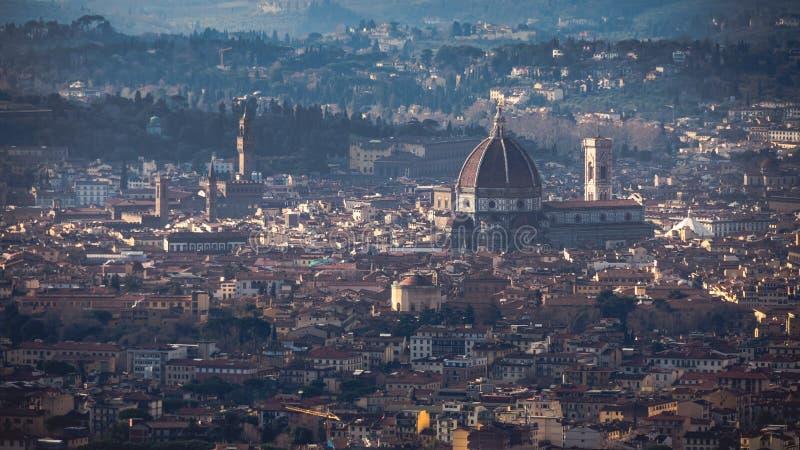 Vista di Firenze da Fiesole fotografia stock libera da diritti