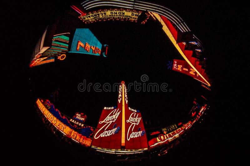 Vista 1964 di Fisheye di Las Vegas, NV fotografia stock libera da diritti