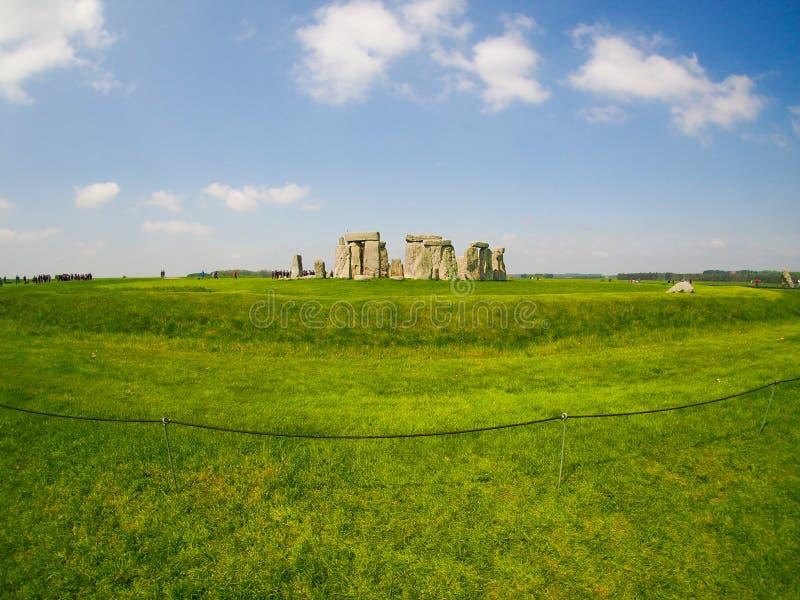 Vista di Fisheye di Stonehenge su Sunny Day immagini stock libere da diritti