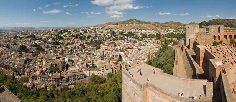 Vista di Granada immagine stock