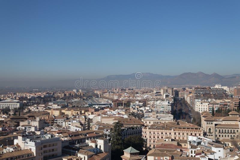 Vista di Granada fotografie stock
