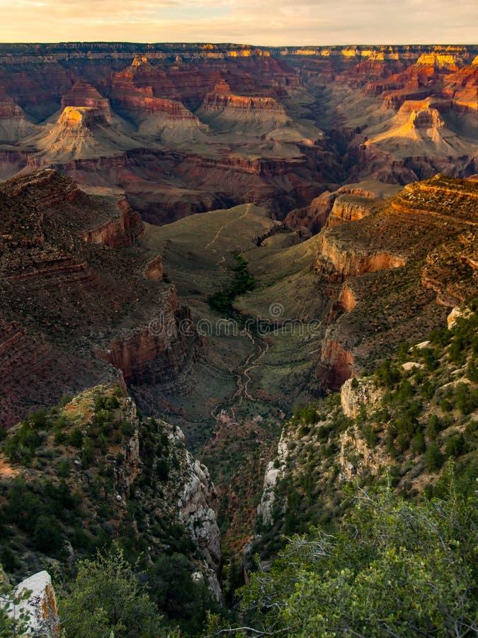 Vista di Grand Canyon, area indiana del giardino, tramonto fotografia stock