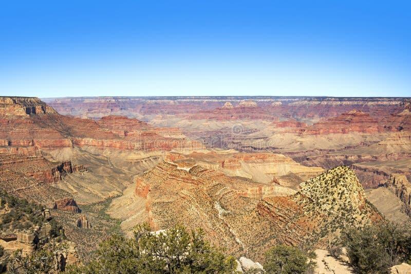 Vista di Grand Canyon, orlo del sud immagini stock libere da diritti