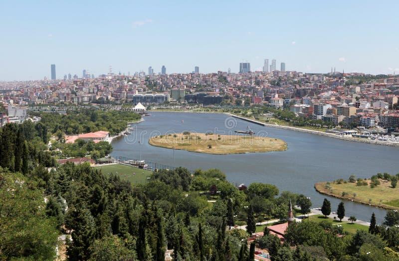 Vista di Halic, Costantinopoli. immagini stock