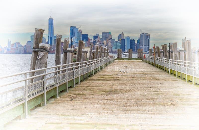 Vista di HDR del Lower Manhattan immagini stock