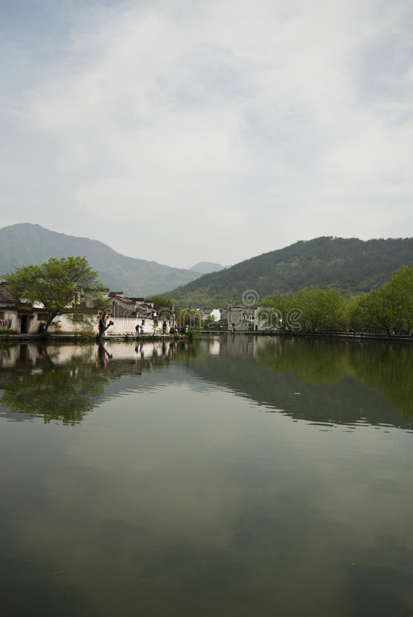 Vista di Hongcun (Cina) immagini stock