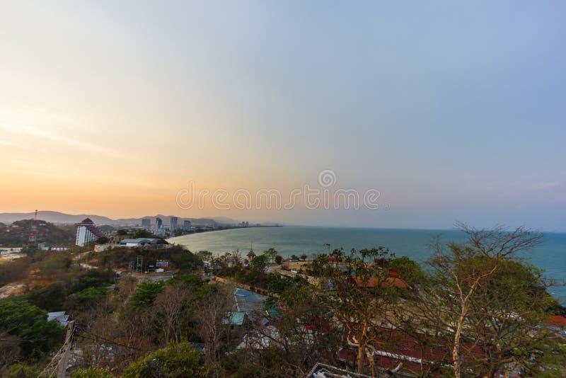 Vista di Huahin fotografia stock libera da diritti