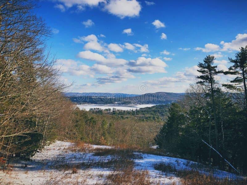 Vista di inverno di Stockbridge immagine stock