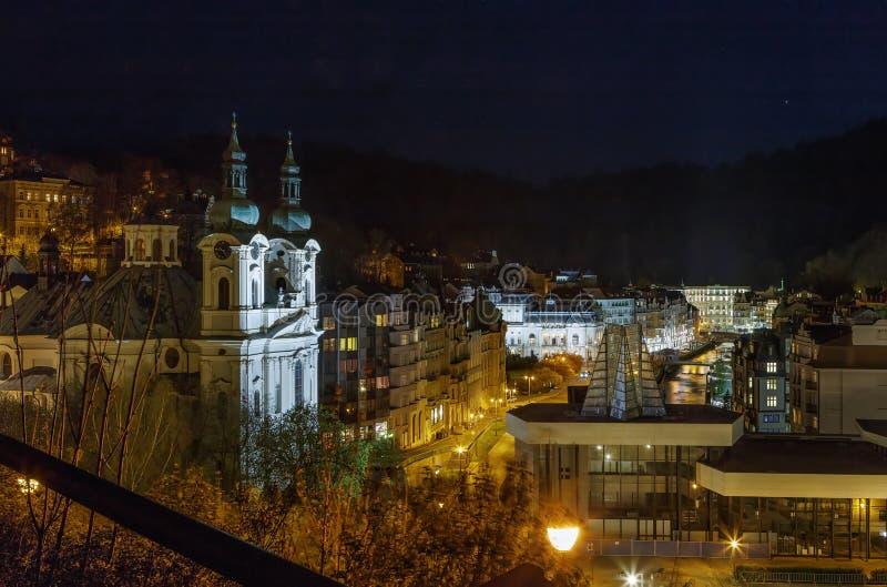 Vista di Karlovy Vary, repubblica Ceca immagini stock libere da diritti